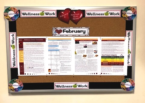 Monroe Township's new Wellness Bulletin Board
