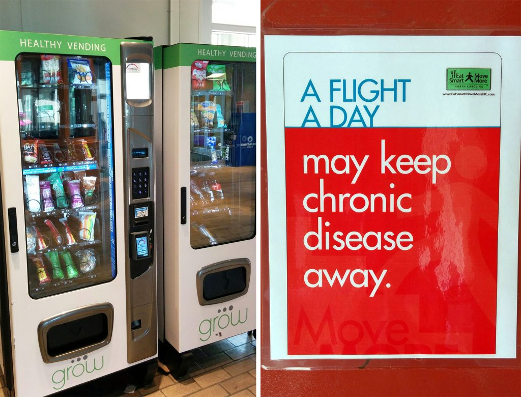 Vending machines with healthier choices