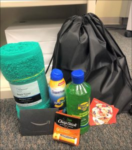 Wellness Bag with Sun Safety Items