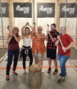 Woolwich participates in Axe Throwing